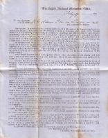 1851 George Washington Monument Society Letter